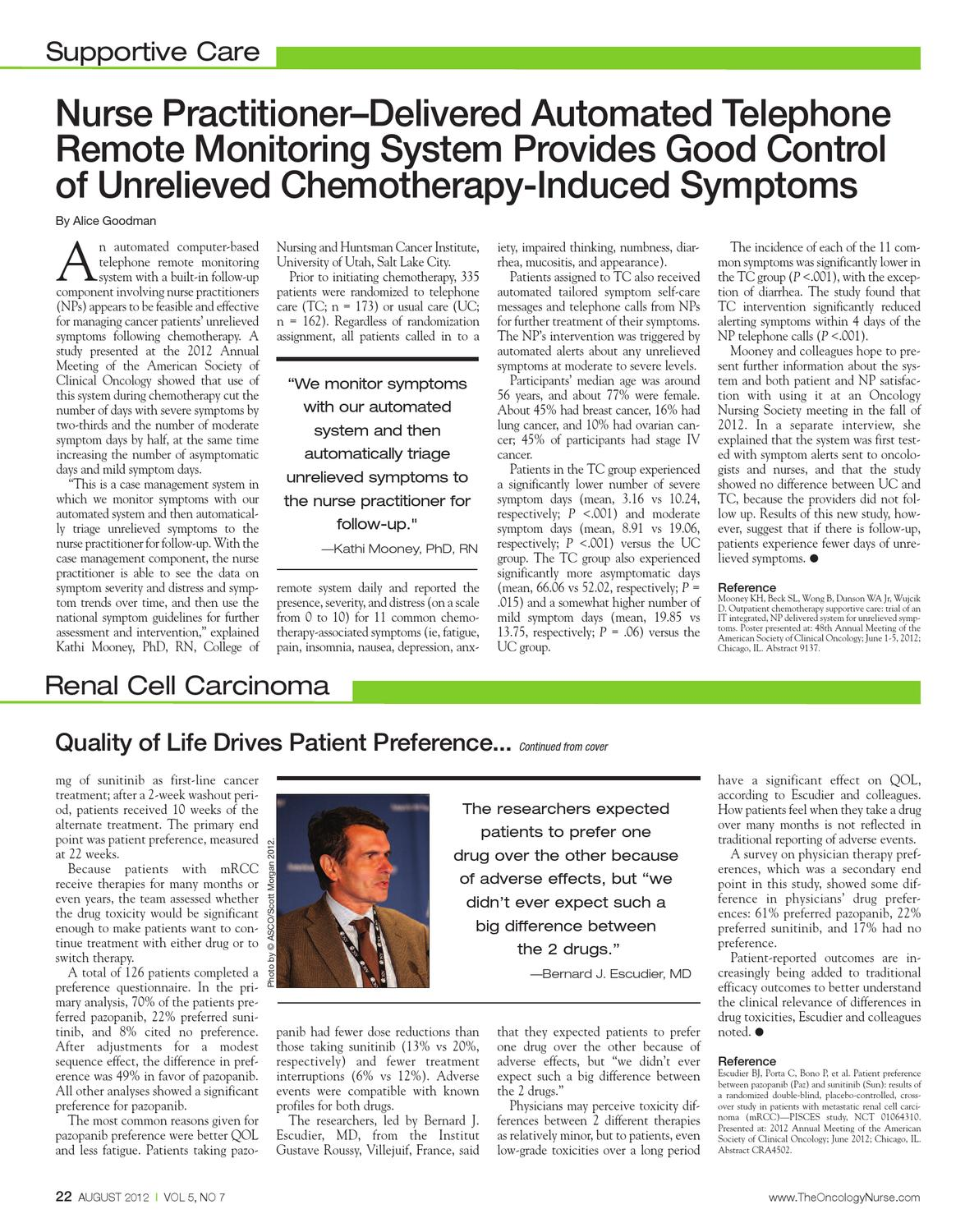 August 2012, VOl 5, NO 7 by The Oncology Nurse - issuu