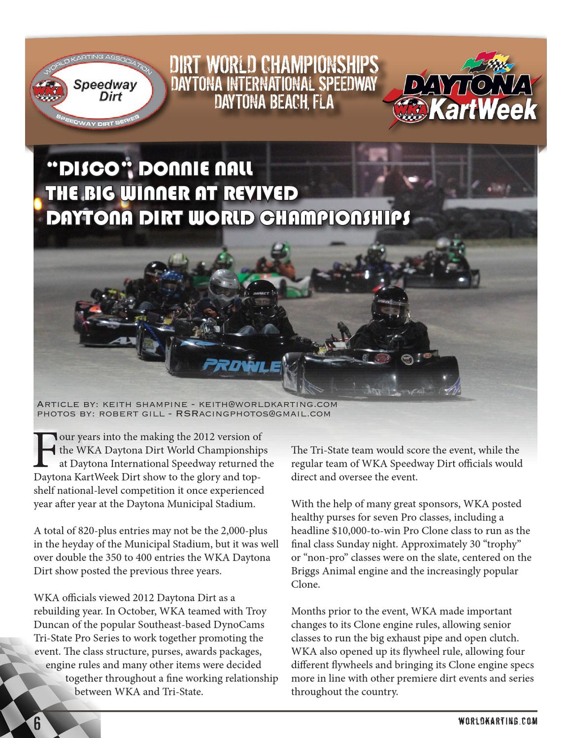 WKA Karting Scene - 2013 January Issue by World Karting Association