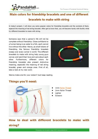 Main Colors For Friendship Bracelets And One Of Diffe To Make With String
