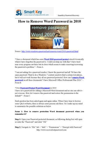 remove password protection from word online