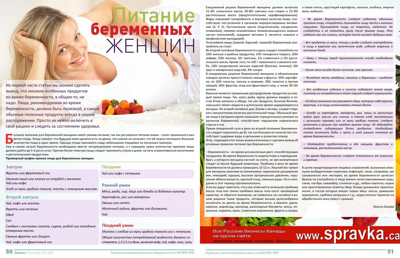 Списки Диет Для Беременных.