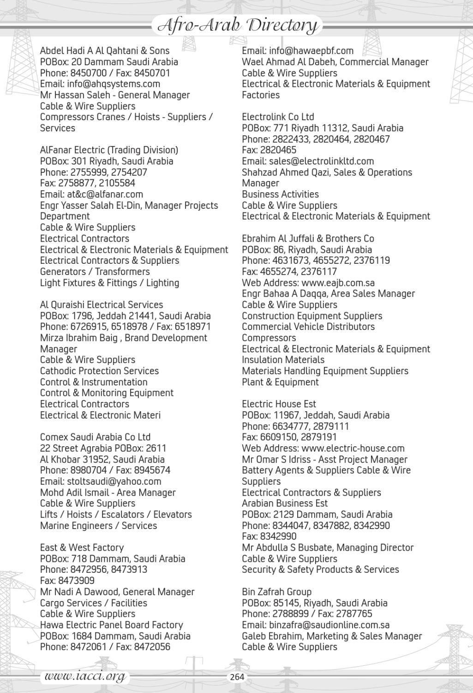 Afro-Arab Elecrama Trade Directory by IACCI Chamber - issuu