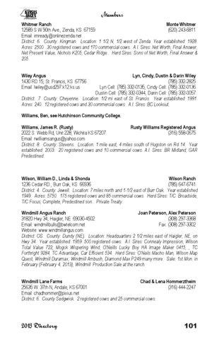 Kansas Angus News - 2013 Membership Directory by LivestockDirect - issuu