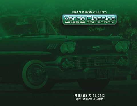 Verde classics catalog by mecum auctions issuu page 1 sciox Image collections