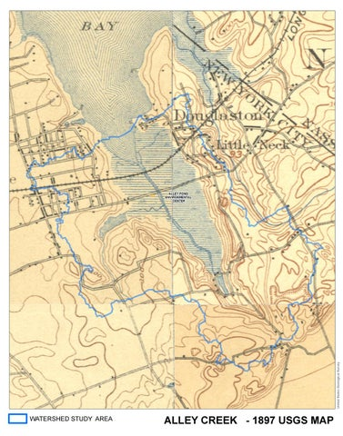 1897 United States Geological Survey Map by Alley Creek Watershed ...