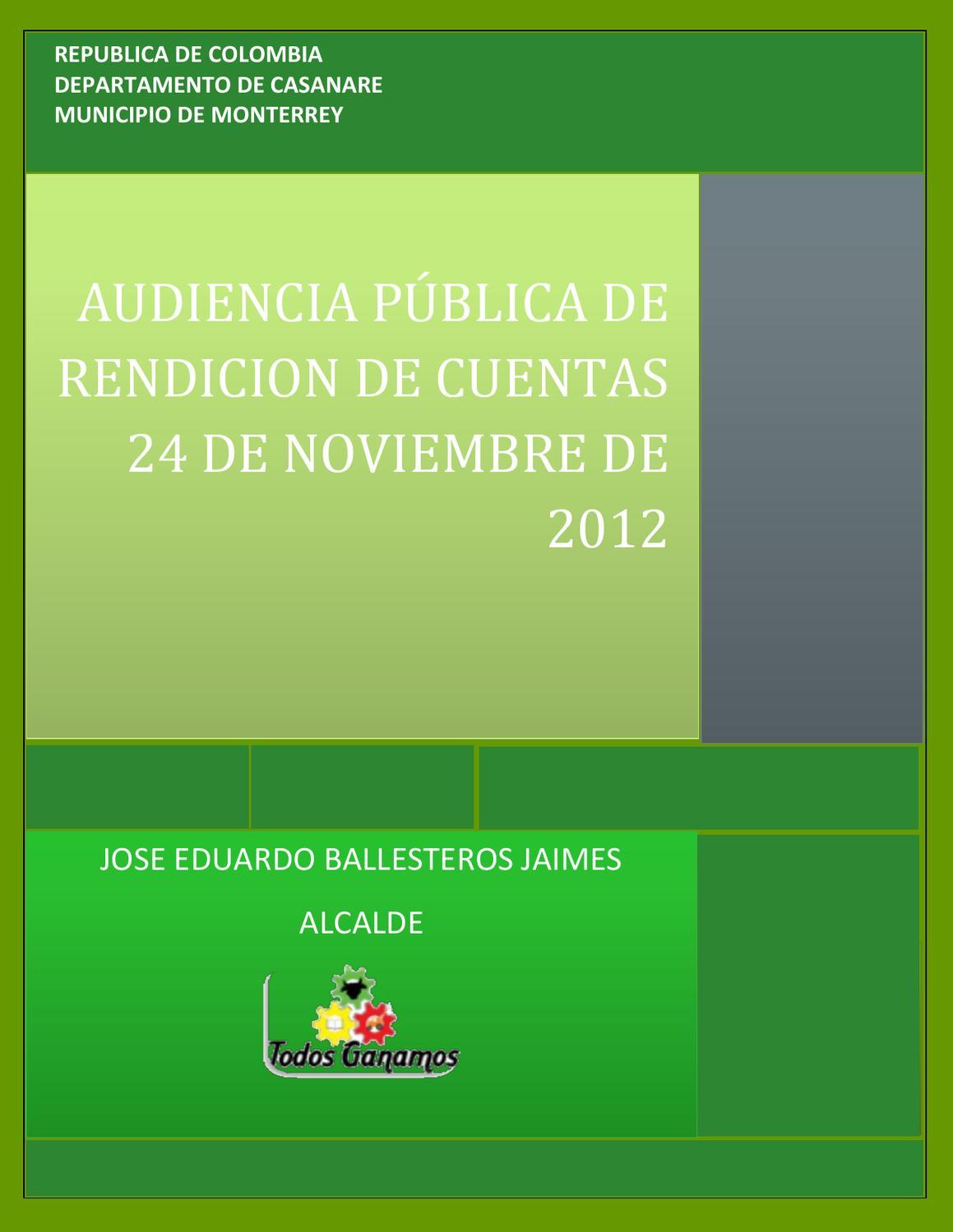 informe de rendicion de cuentas primera parte by arnold
