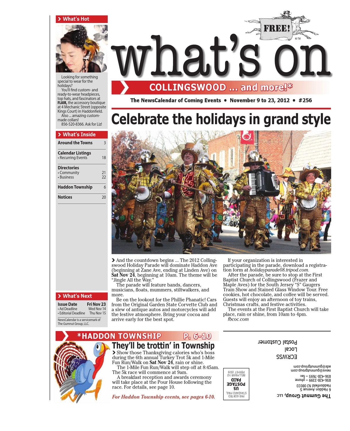 What's On Collingswood 256, November 9 to 23, 2012 by David