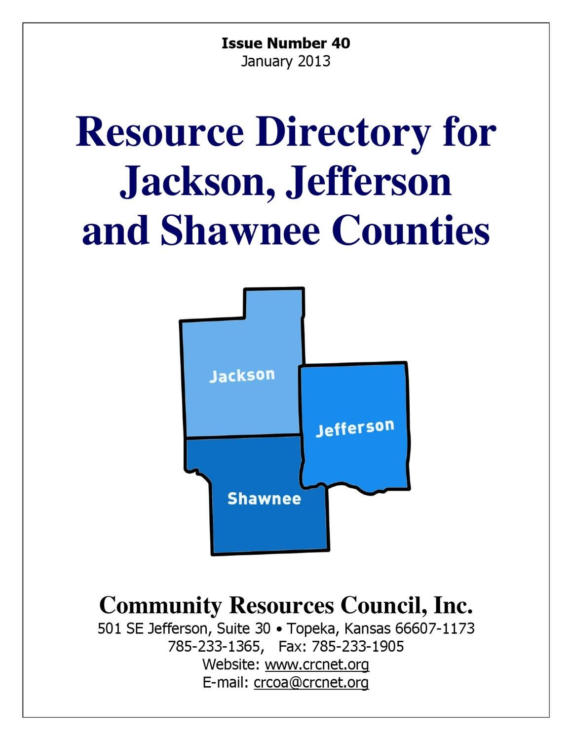 resource directory forjackson jeffersonand shawnee counties by g r