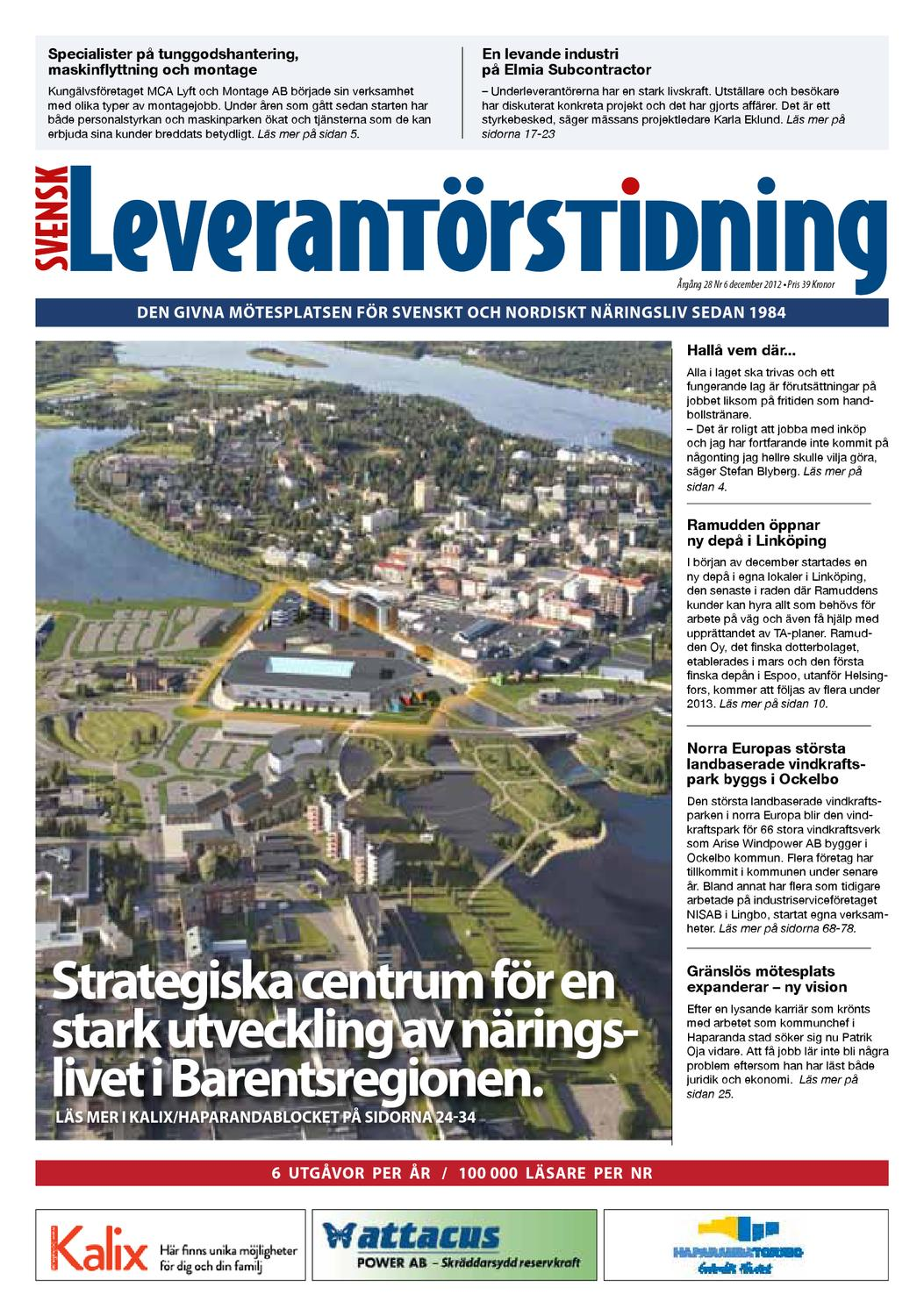 Svensk Leverantörstidning nr-6 2012 by Hexanova Media Group AB - issuu abc88eb8b99f2