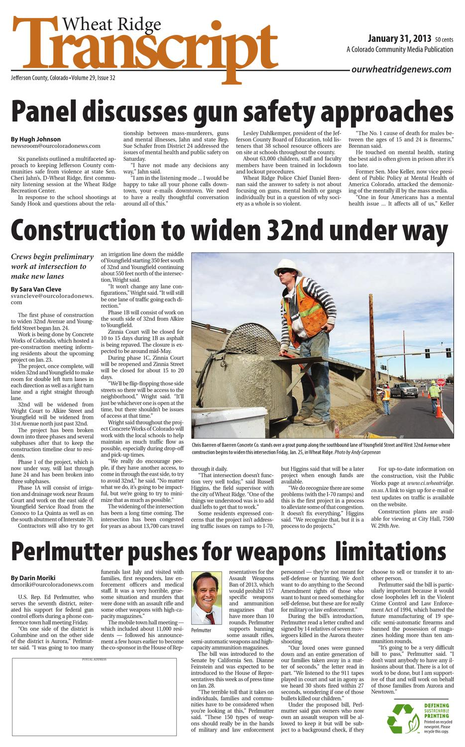 Wheat Ridge Transcript 013113 by Colorado Community Media - issuu