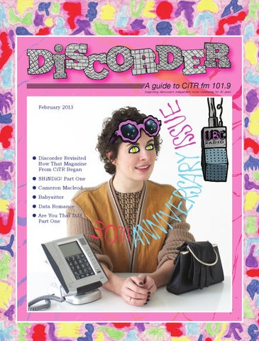74a907b73a Discorder February 2013 - 30th Anniversary Issue! by Discorder ...