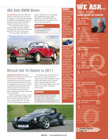 Complete Kit Car Magazine April 2011 By Performance Publishing Ltd