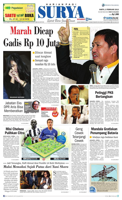E Paper Surya Edisi 2 Februari 2013 By Harian Issuu Lg Kulkas Inverter Gn M572hphl 178cm Putih Bunga Khusus Jabodetabek