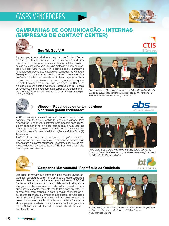 Revista Xiiprêmioabt By Garrido Marketing Issuu