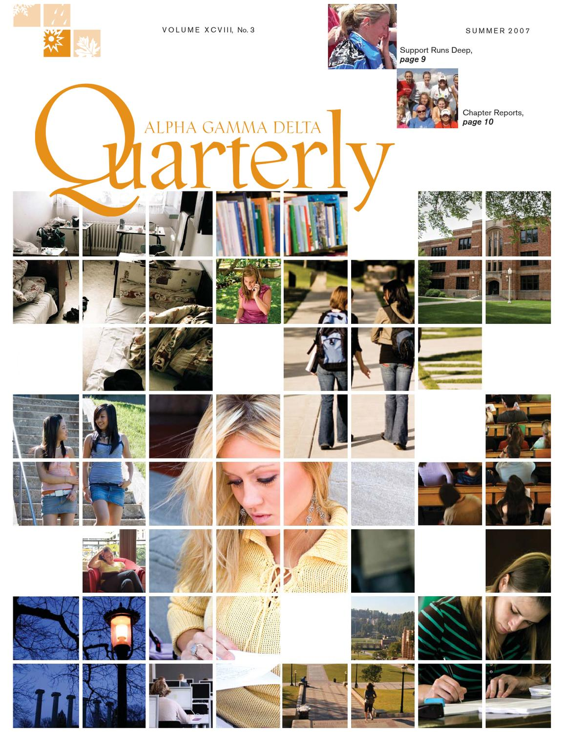 Quarterly Summer 2007 by Alpha Gamma Delta - issuu