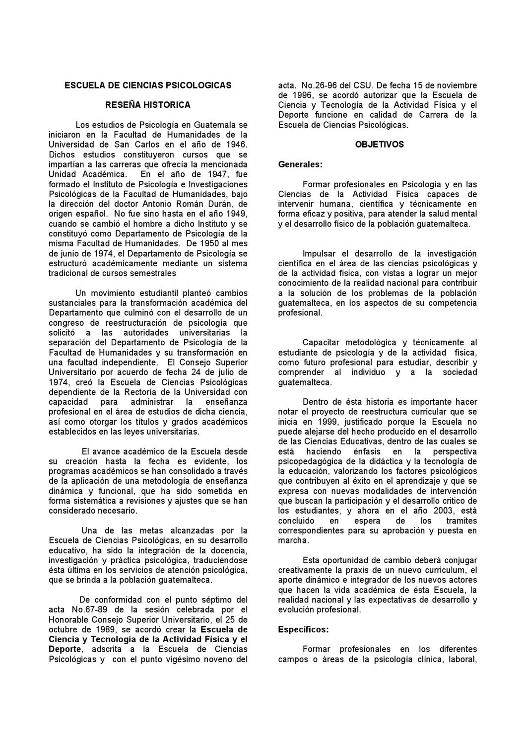 Documento universidad San Carlos by Karla Treviño - issuu