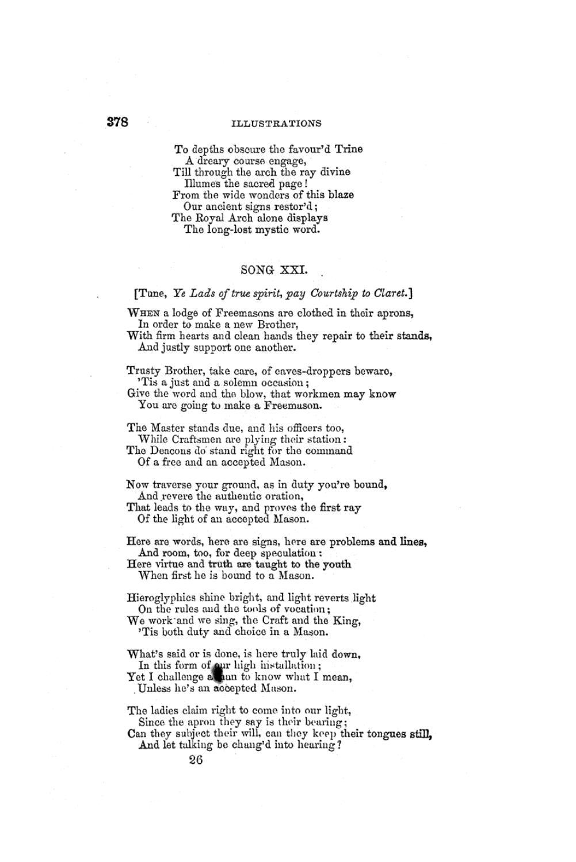 MASONRY 1855