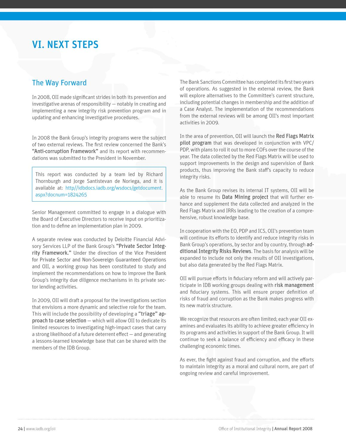 office of institutional integrity annual report 2008 by IDB - issuu