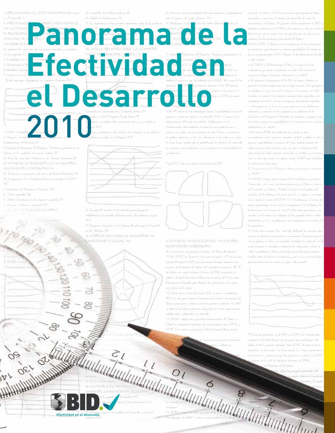 panorama de la efectividad en el desarrollo (deo) 2010 by IDB - issuu