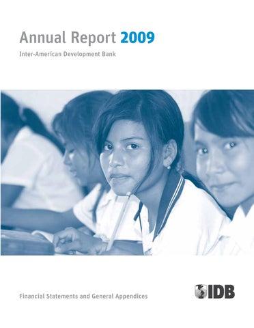 c4e6e0709d2 inter-american development bank annual report 2009  financial statements