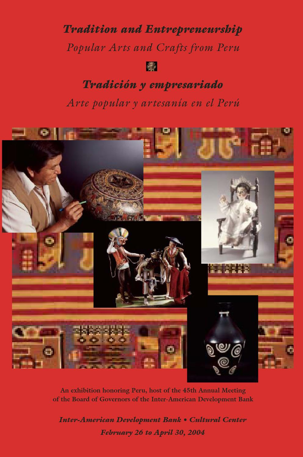 Tradition And Entrepreneurship Popular Arts And Crafts From Peru  # Hassan Muebles Gavilan