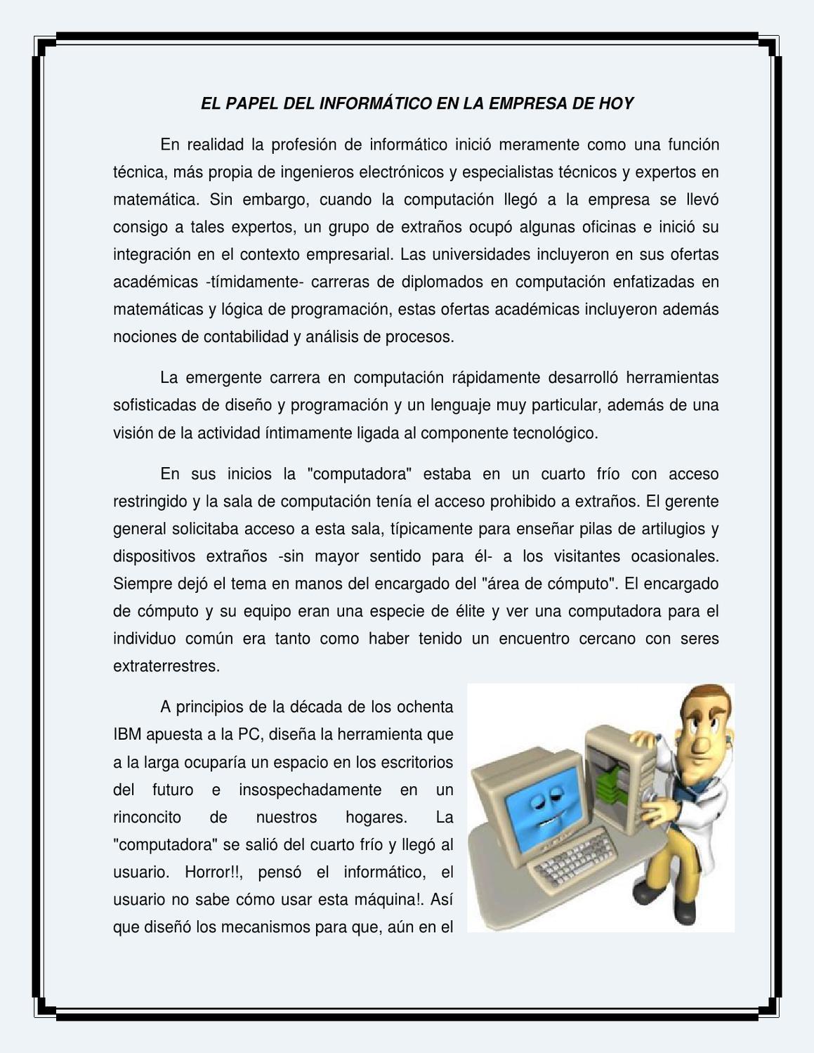 papel del tecnico en informatica en la empresa by iviangy vasquez ...