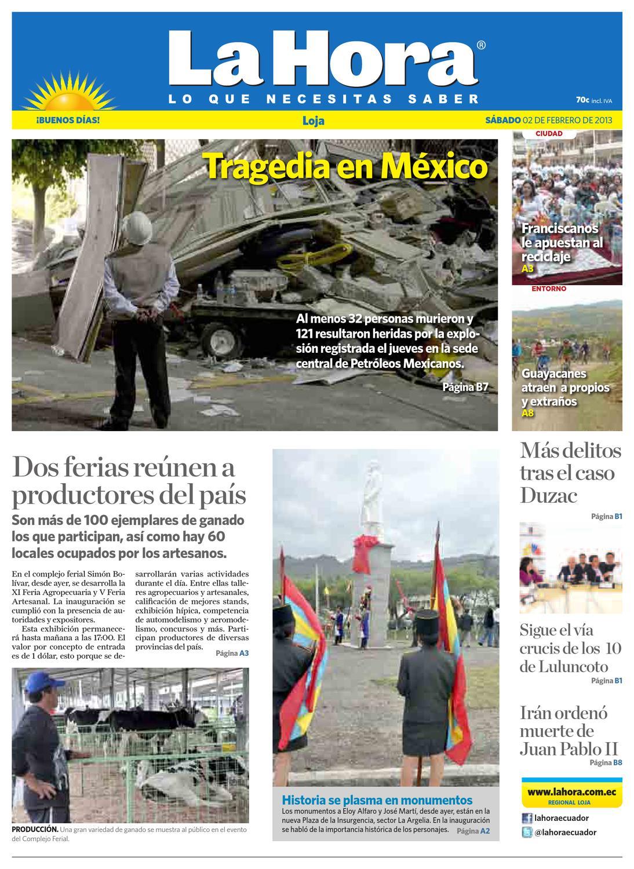 Diario La Hora Loja 02 De Febrero 2013 By Diario La Hora Ecuador  # Muebles Jep Cali