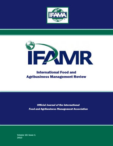 892589618938ba Volume 16 Issue 1 by IFAMA - issuu