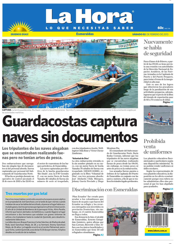 Edición impresa Esmeraldas del 02 de febrero de 2013 by Diario La Hora  Ecuador - issuu 06ae3a41d71