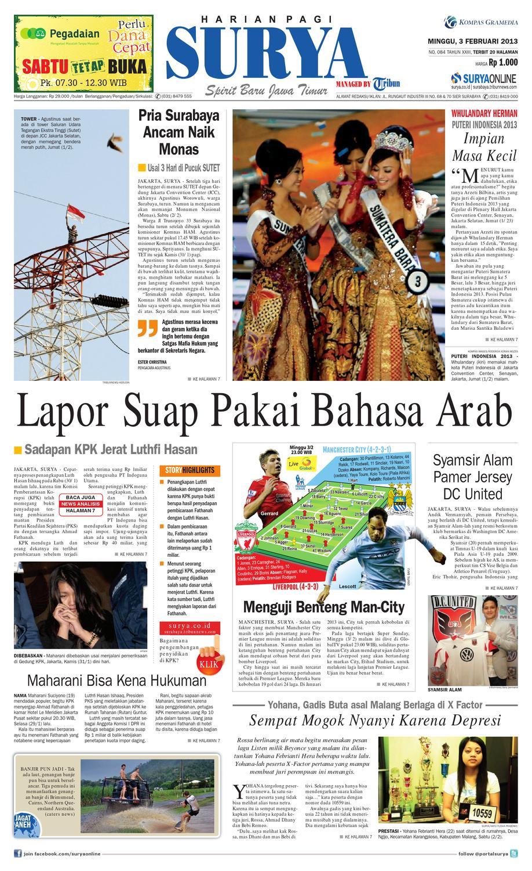 E Paper Surya Edisi 3 Februari 2013 By Harian Surya Issuu