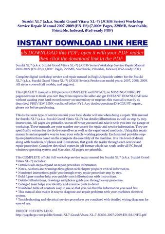 suzuki grand vitara service manual pdf