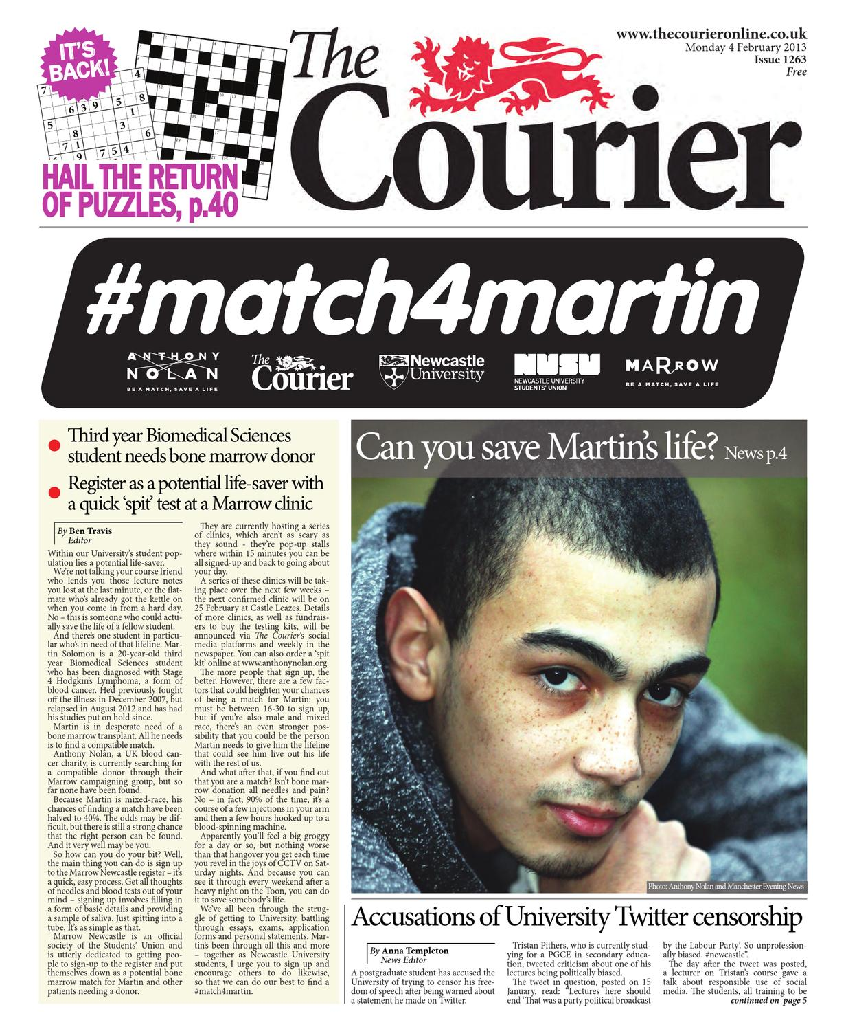 ce11f39ee76 The Courier 1263 by The Courier Online - issuu