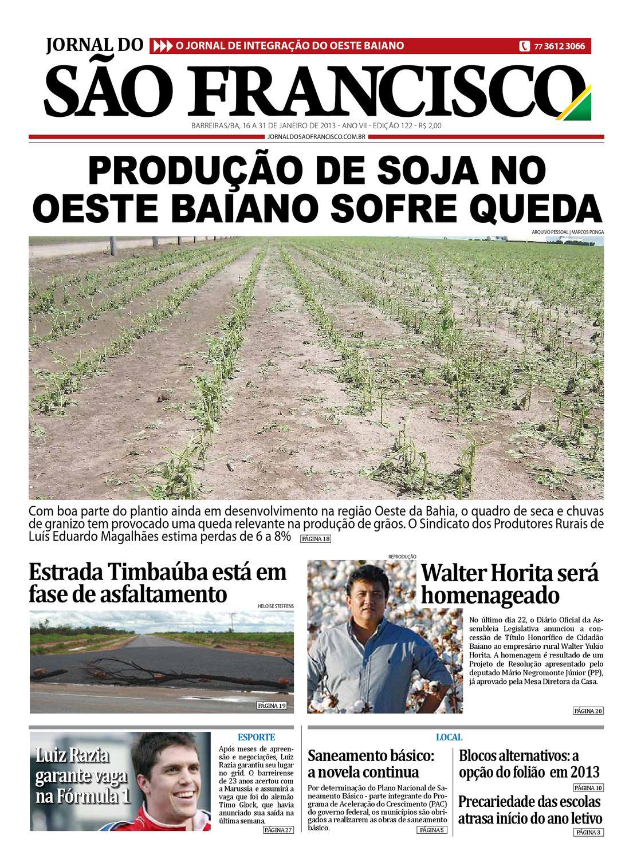 b98472d73e1 Jornal do São Francisco - Edição 122 by Jornal Sao Francisco - issuu