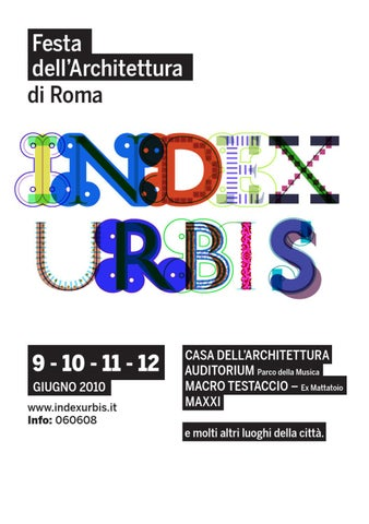 Idrogross Ceramiche Srl Roma.Index Urbis Festa Dell Architettura Di Roma By Ff3300 Viasual Arts