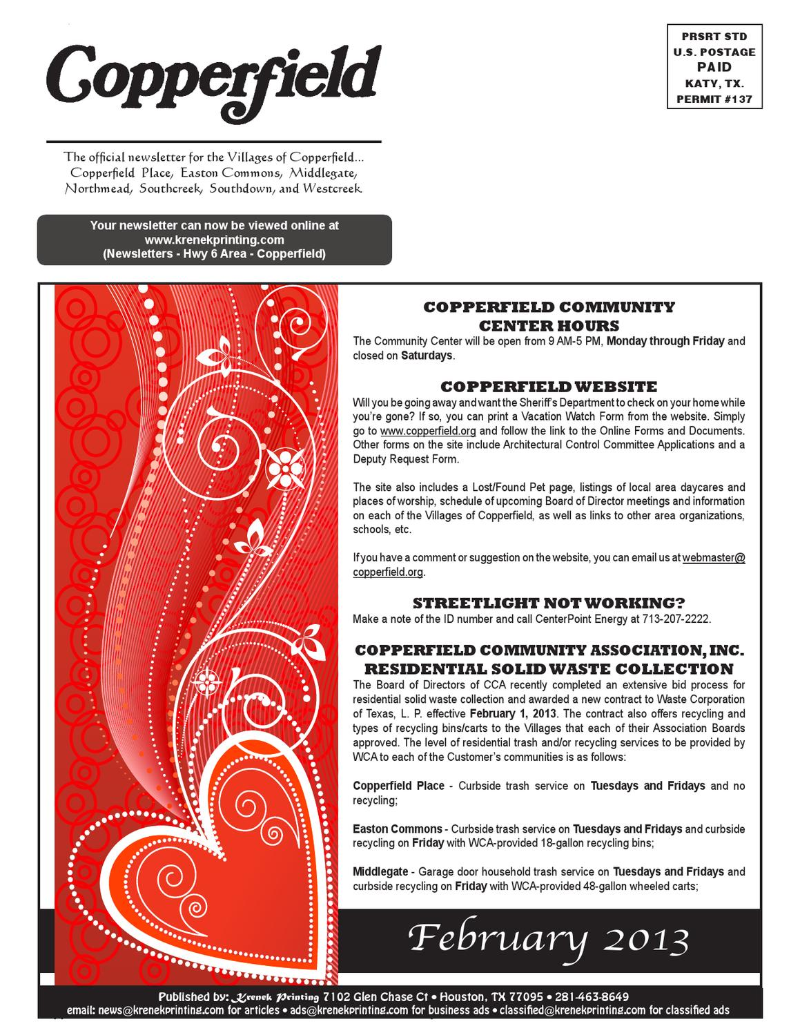 Copperfield by Krenek Printing - issuu