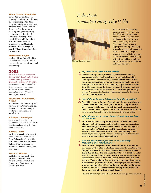 Juniata magazine 2013 fall winter by juniata college issuu solutioingenieria Choice Image