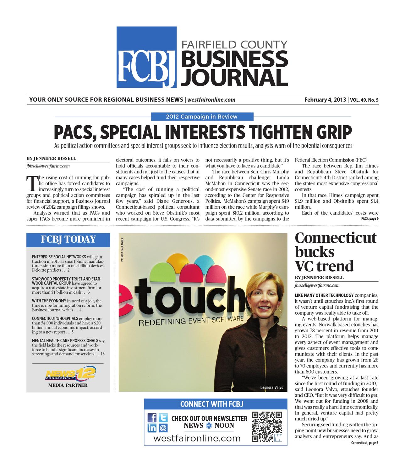 Fairfield County Business Journal - 020413 by Wag Magazine