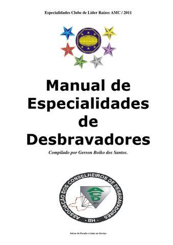 e59513f9a0 manual de especialidades de desbravador clube de lder razes amc 2011 ...