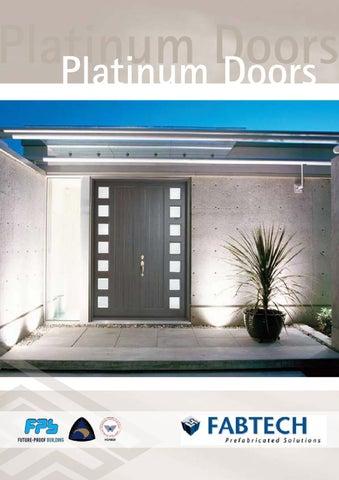 Platinum Doors Platinum Doors & Fabtech Doors Standard configurations by Mark Edlin - issuu