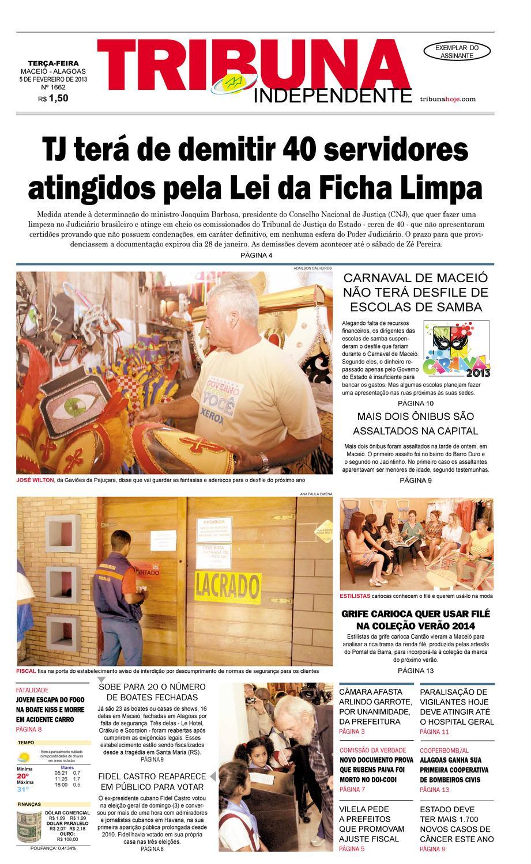 ee3f2dd8250 Edição número 1662 - 05 de fevereiro de 2013 by Tribuna Hoje - issuu