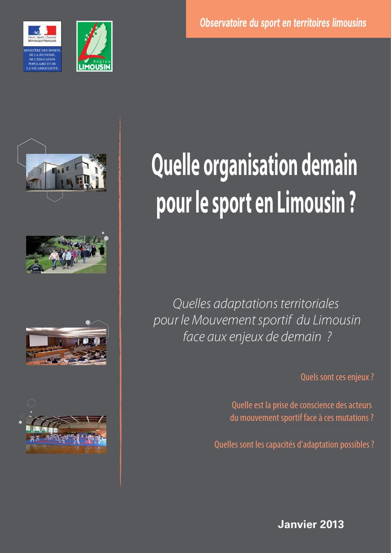 Quelle organisation demain pour le sport en Limousin by Région Limousin -  issuu 69edfba84b9