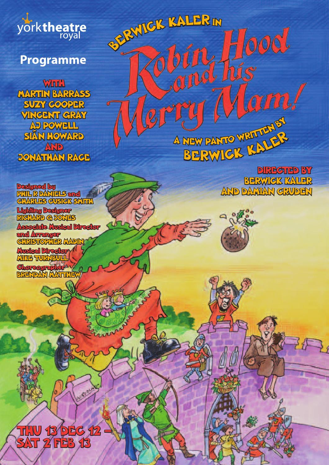 Robin Hood and His Merry Mam! programme by York Theatre