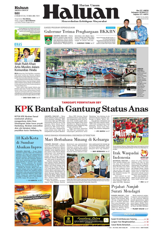 Haluan 06 Februari 2013 by Harian Haluan - issuu