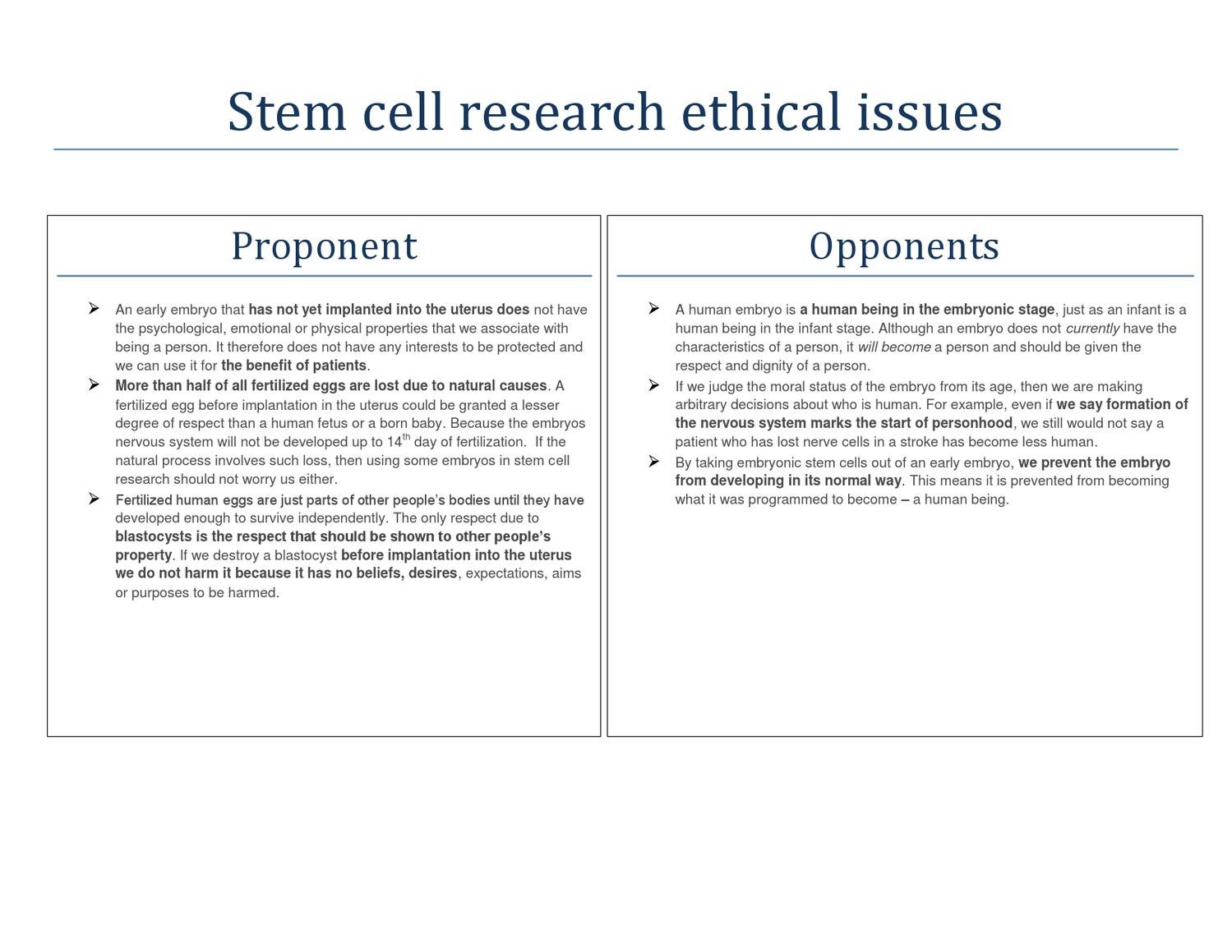 Stem Cell Reseach  Main Ethical Issues By Mau Zoom