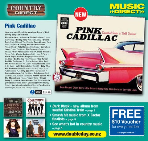 db08c2370ea026 NEW Pink Cadillac Here are two CDs of the very best Rock  n  Roll driving  songs of all time! Ritchie Valens La Bamba • Eddie Cochran C mon Everybody  • Buddy ...