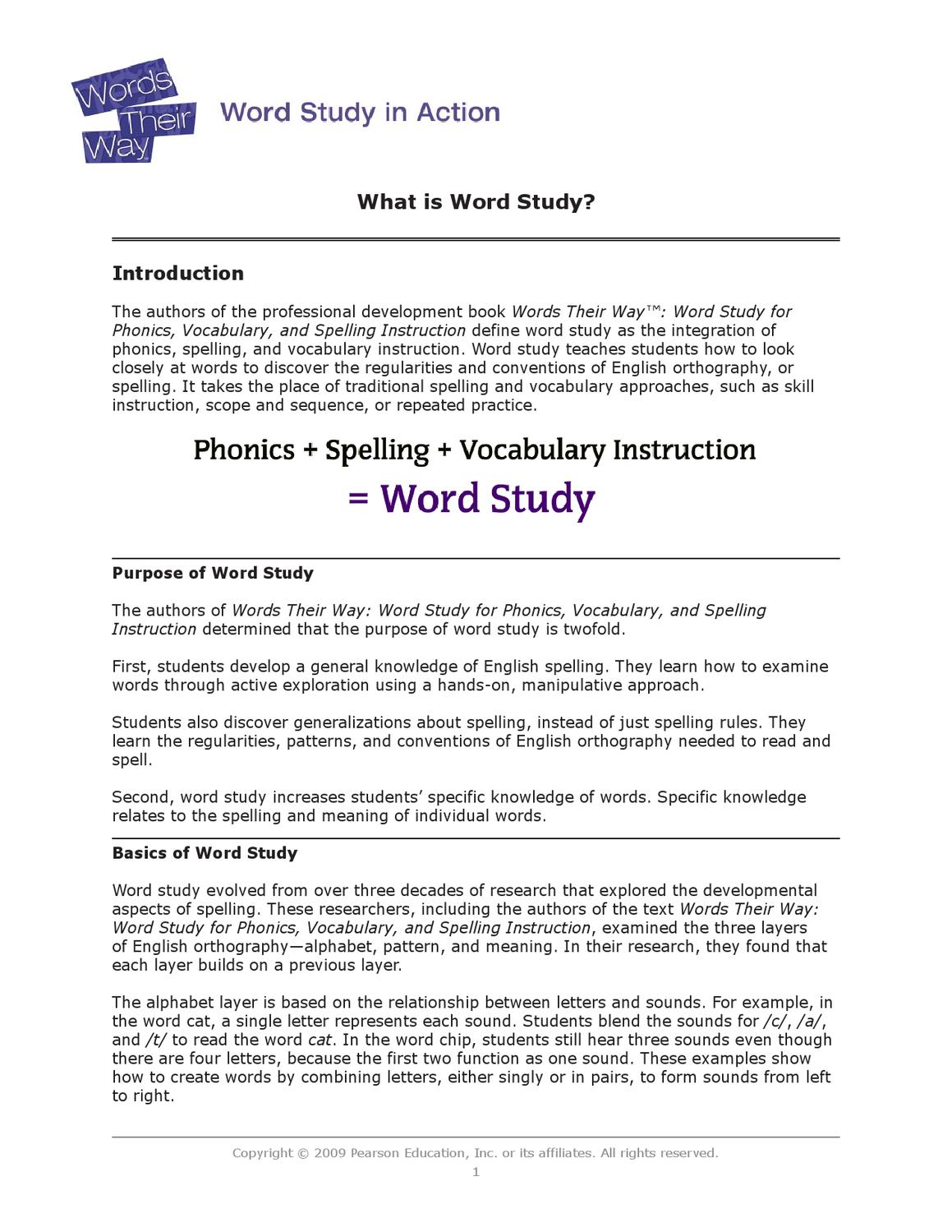 Word Study in Action by Ele ICT - issuu