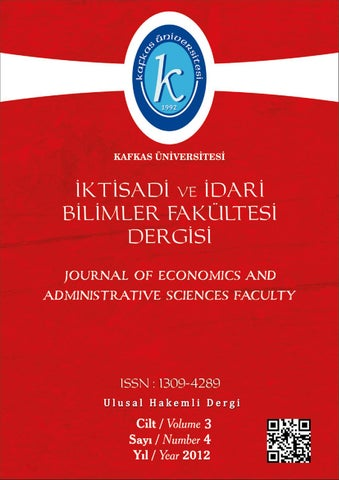 Kau Iibf Dergisi Cilt 3 Sayı 4 2012 By Bahadır Fatih Yildirim Issuu