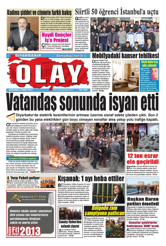 06 02 2013 Gazete Sayfalari By Diyarbakir Olaygazetesi Issuu