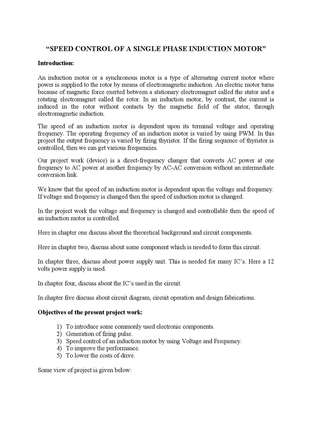 Speed Control Of A Single Phase Induction Motor By Zareen Aabedin Alternate Positivevoltage Switching Regulator Circuit Diagram Issuu
