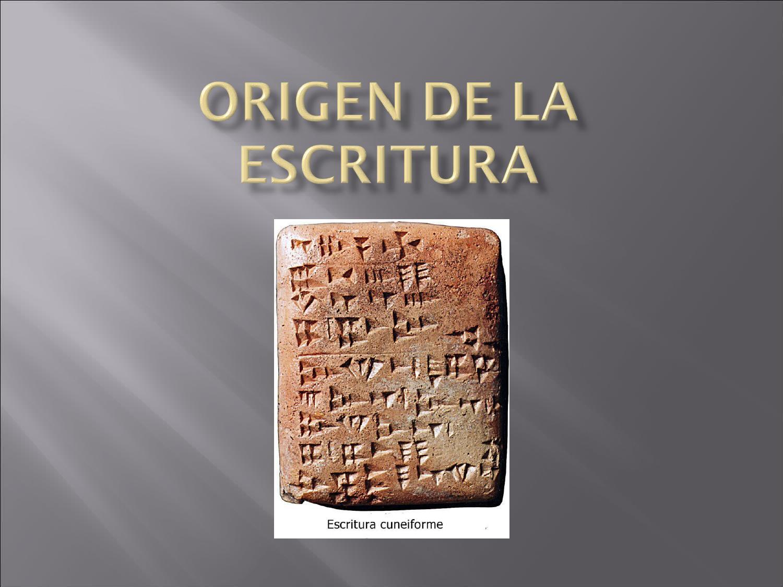 Origen de la escritura by Marisa Falcón - issuu